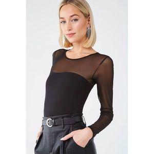 Never worn! Sheer-Mesh Knit-Sexy Bodysuit